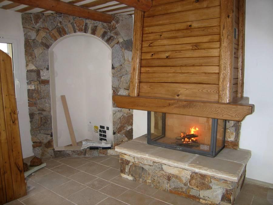 fabrication de chemin e ancienne style rustique la garde conception et installation de. Black Bedroom Furniture Sets. Home Design Ideas